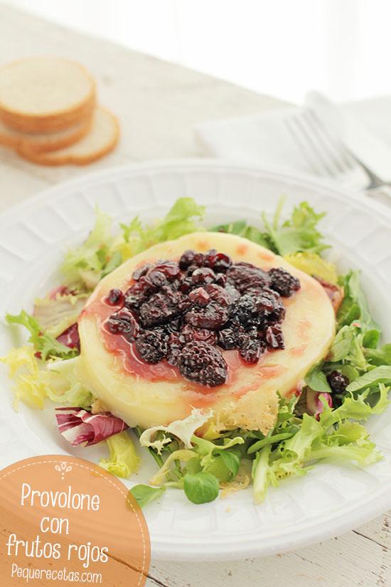 Queso provolone a la plancha con frutos rojos (2)