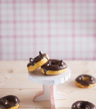Donuts al horno con calabaza, sanas y sabrosas