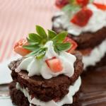 Corazones de Brownie, una tentación dulce