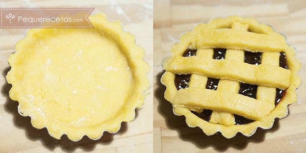 como preparar mini crostatas paso a paso