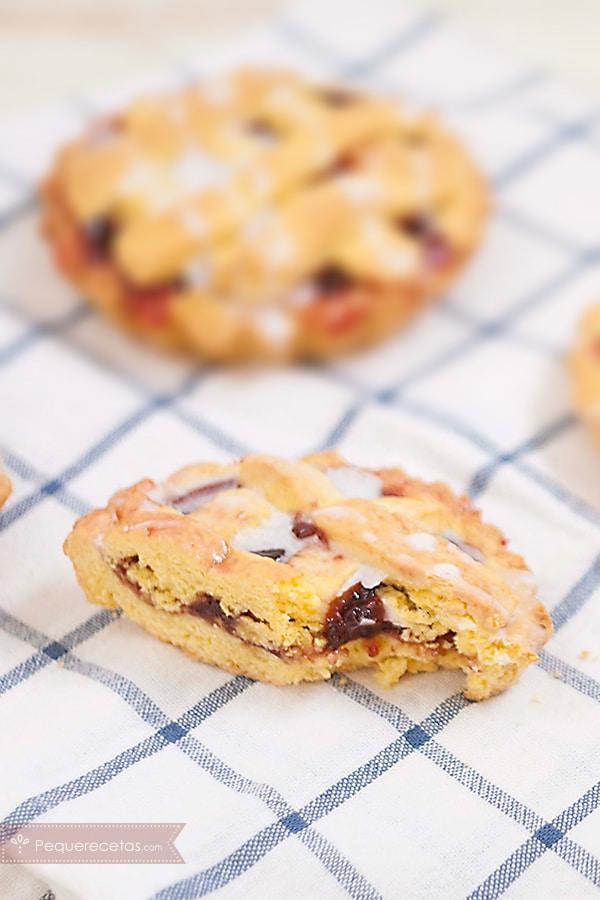 receta de mini crostata rellena de mermelada