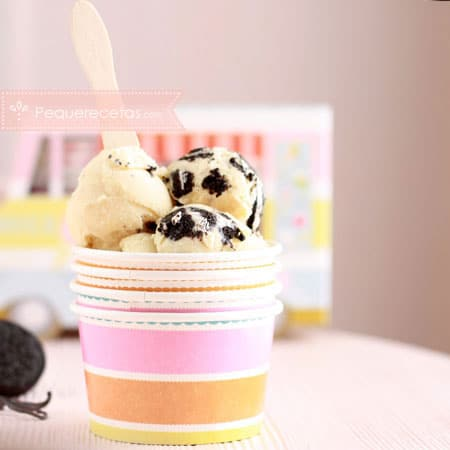 Postres con Thermomix: helado de vainilla y Oreo