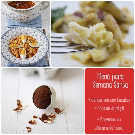 Recetas para Semana Santa, menú