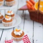 Muffins integrales de zanahoria y naranja