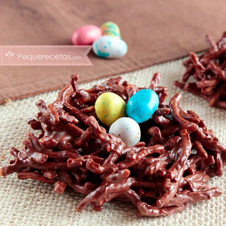 Dulces de semana santa: nidos de chocolate