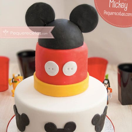 Mickey Mouse Fondant Cake Tutorial