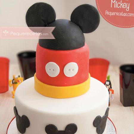 Tartas Fondant: Mickey Mouse