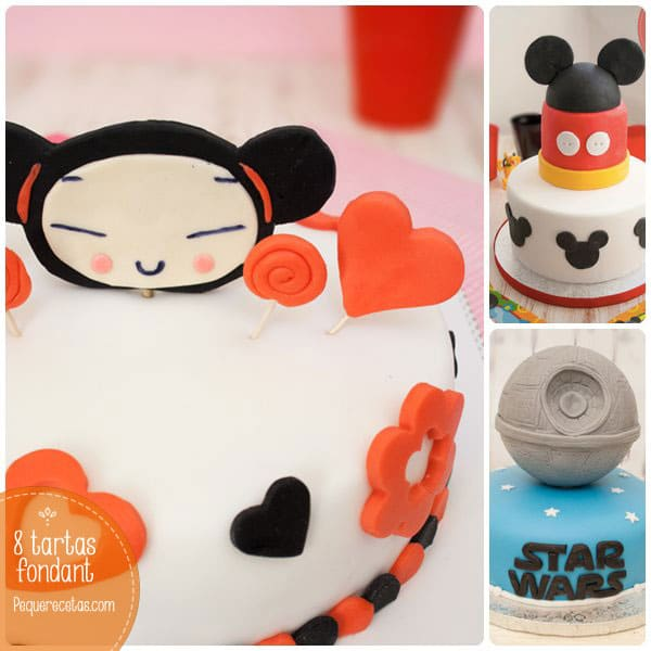 tartas fondant para fiestas infantiles