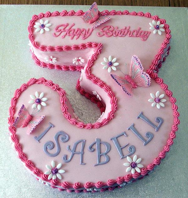 Cake Designs For Baby Girl 3rd Birthday : Como hacer tartas faciles de n?meros - PequeRecetas