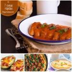 7 cenas rápidas y sencillas