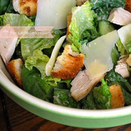 Ensalada de pollo: ensalada César