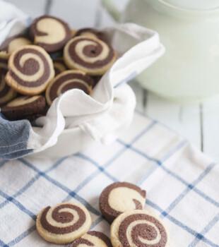 Galletas de espiral, dos sabores deliciosos