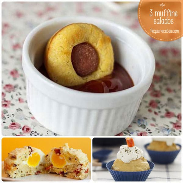 Muffins salados, 3 recetas