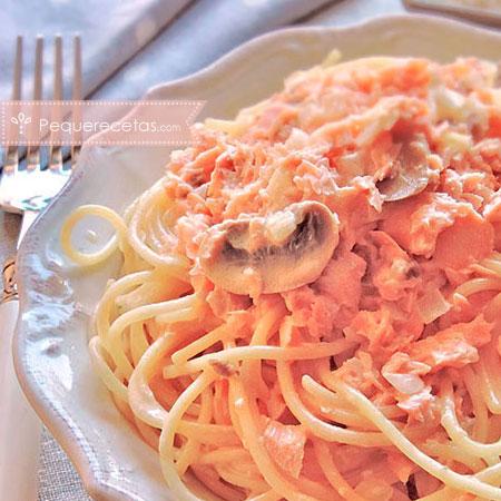 Salmón: pasta con salmón