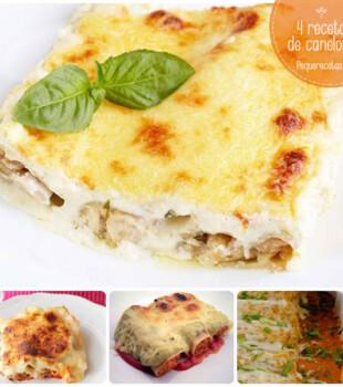 4 recetas de canelones