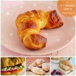 4 croissants caseros ¡con diferentes rellenos!