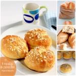 Recetas de pan: 4 panecillos caseros ¡riquísimos!