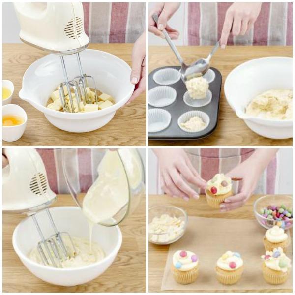 como hacer cupcakes dia madre