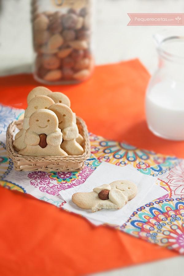 galletas con el corazón de almendra