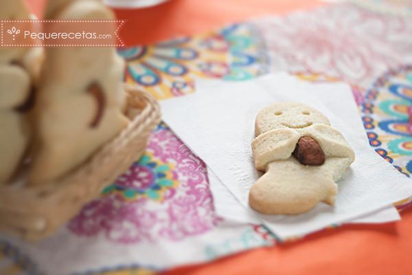 divertidas galletas-hombrecito con almendra