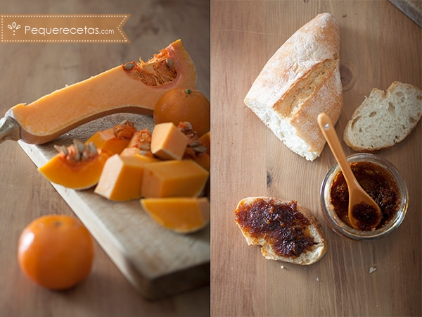 mermelada de calabaza y mandarina