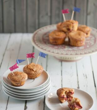 Riquísimos muffins de fresa