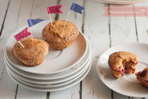 Receta de muffins de fresa