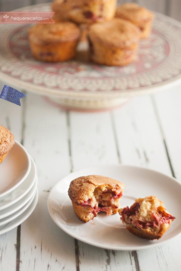 muffins de fresa fáciles