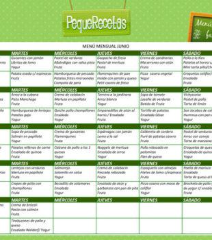 Menu semanal recetas niños