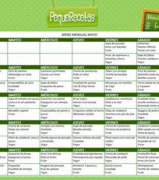 menu semanal mayo 2015