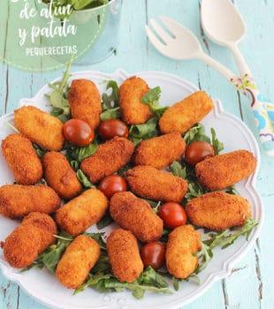 croquetas de atún y patatas