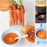 4 purés con zanahoria para bebés