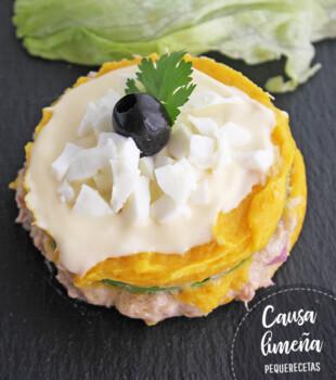 causa limeña receta peruana
