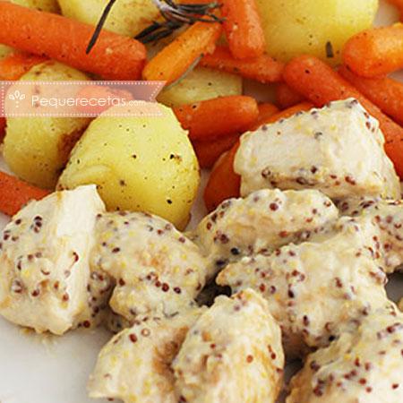 Recetas de pollo en salsa: pollo a la mostaza