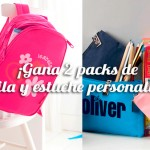 ¡Gana 2 packs de mochila y estuche personalizados!