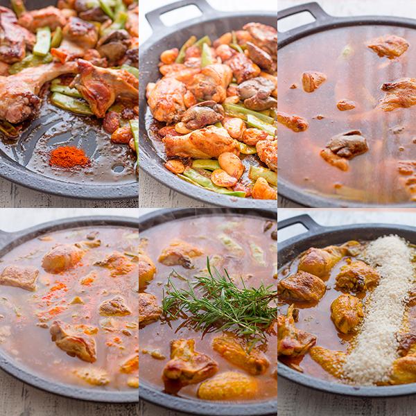 paella valenciana paso a paso caldo