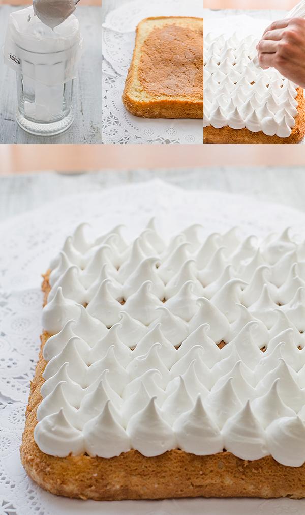 paso a paso decoración tarta tres leches