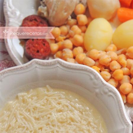 Cocina española: cocido madrileño