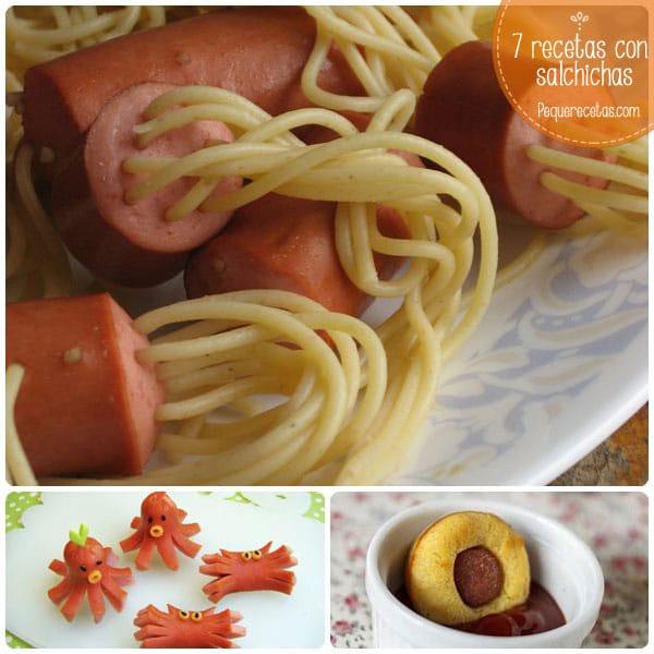 7 recetas con salchichas f ciles y divertidas pequerecetas for Platos sencillos para cocinar