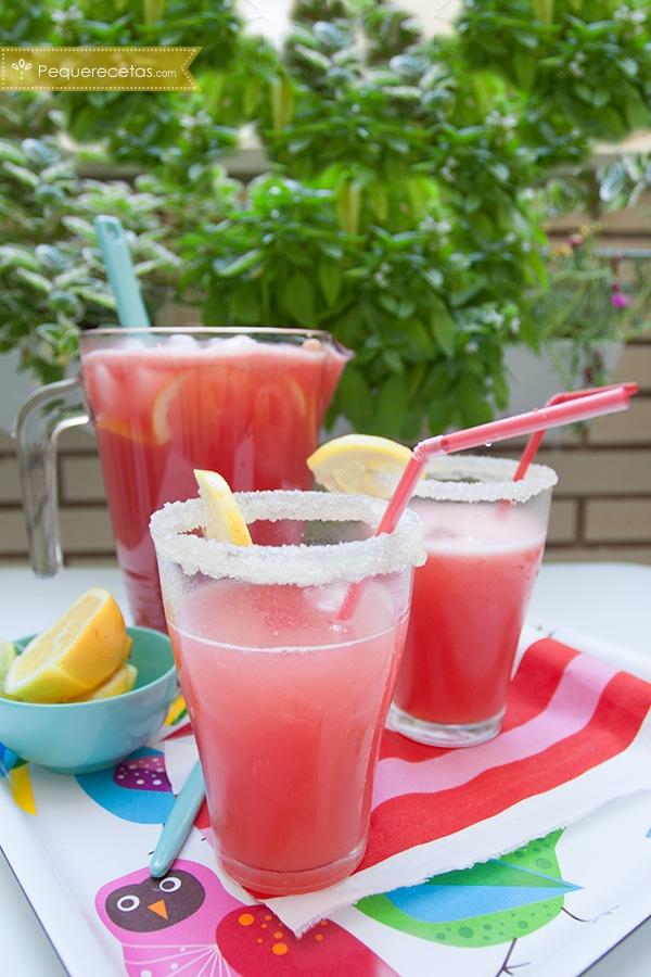 limonada rosada con sandía