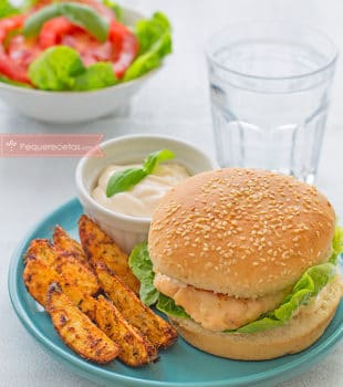 hamburguesas de salmón y merluza