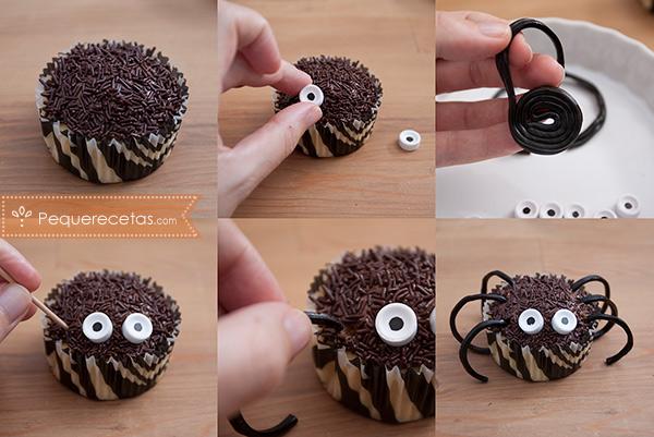 Receta para preparar Cupcakes de halloween