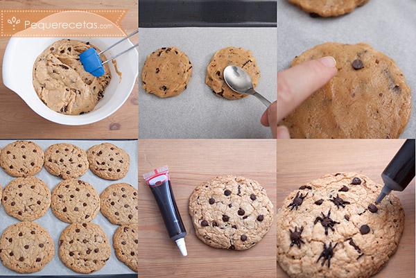 receta casera de galletas de araña