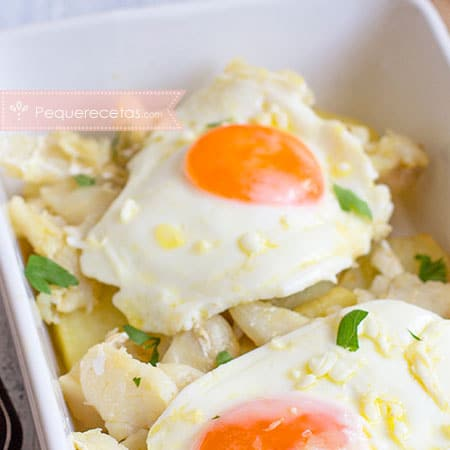 Recetas de patatas, huevo y bacalao