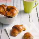 Croissants integrales con chocolate