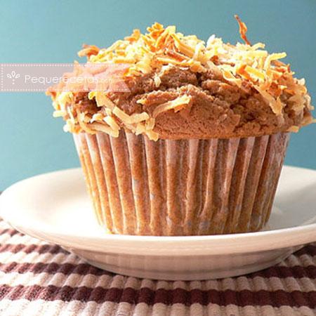 Recetas con coco: muffins