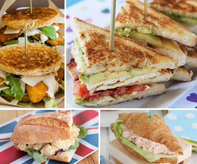 sandwich de pollo recetas