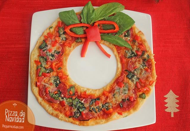 Pizza de Navidad paso a paso