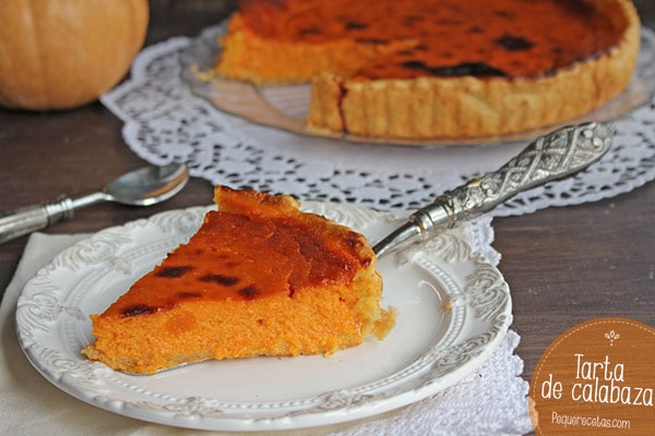 receta tarta de calabaza