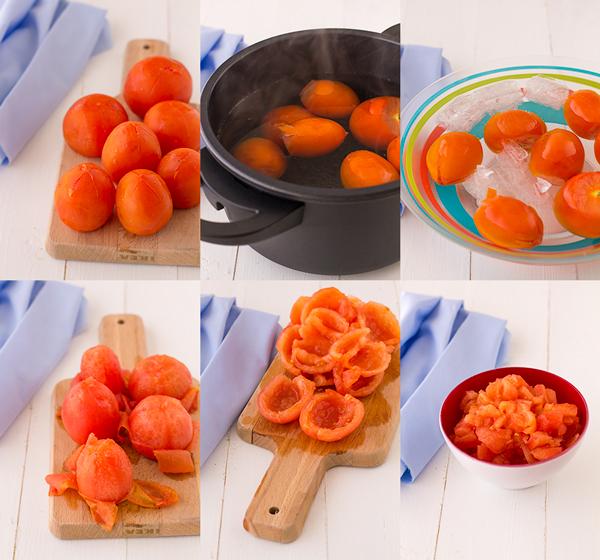 paso a paso pelar tomates